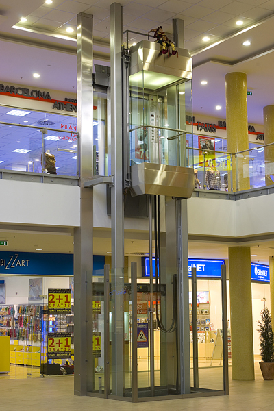 Lift panoramic - Mall Brasov panoramic Elmas Ascensor
