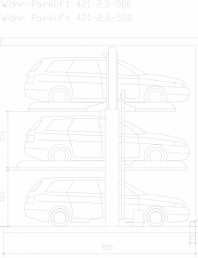 Sistem mecanic de parcare auto 2,0/2,6 - 500