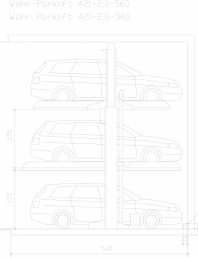 Sistem mecanic de parcare auto 2,0/2,6 - 560