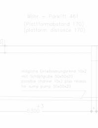 Sistem mecanic de parcare auto - distanta platforma 170