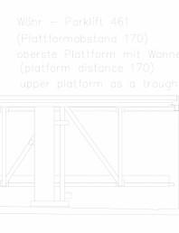 Sistem mecanic de parcare auto 461 - distanta platforma 170