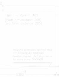 Sistem mecanic de parcare auto - distanta platforma 205 - planificare