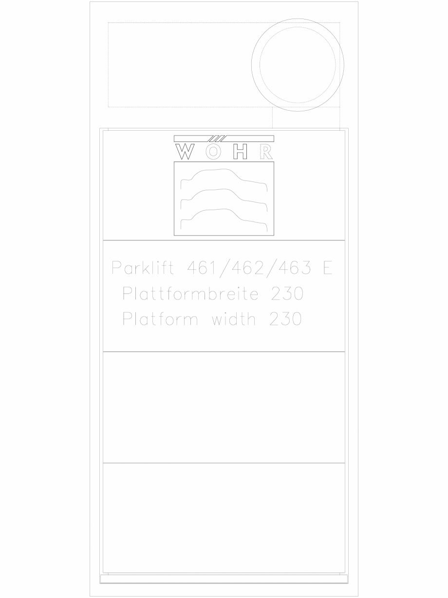 Pagina 1 - CAD-DXF Sistem mecanic de parcare auto - latime platforma 230 WÖHR Detaliu de produs...