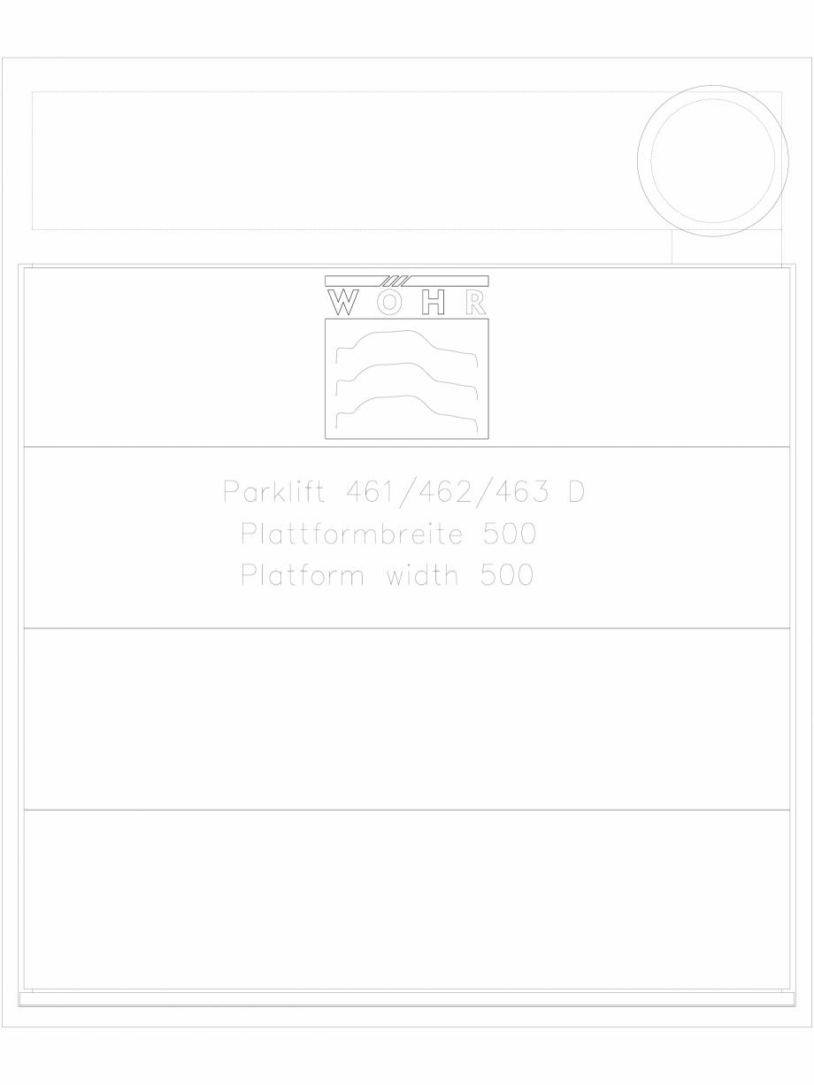 Pagina 1 - CAD-DXF Sistem mecanic de parcare auto - latime platforma 500 WÖHR Detaliu de produs...