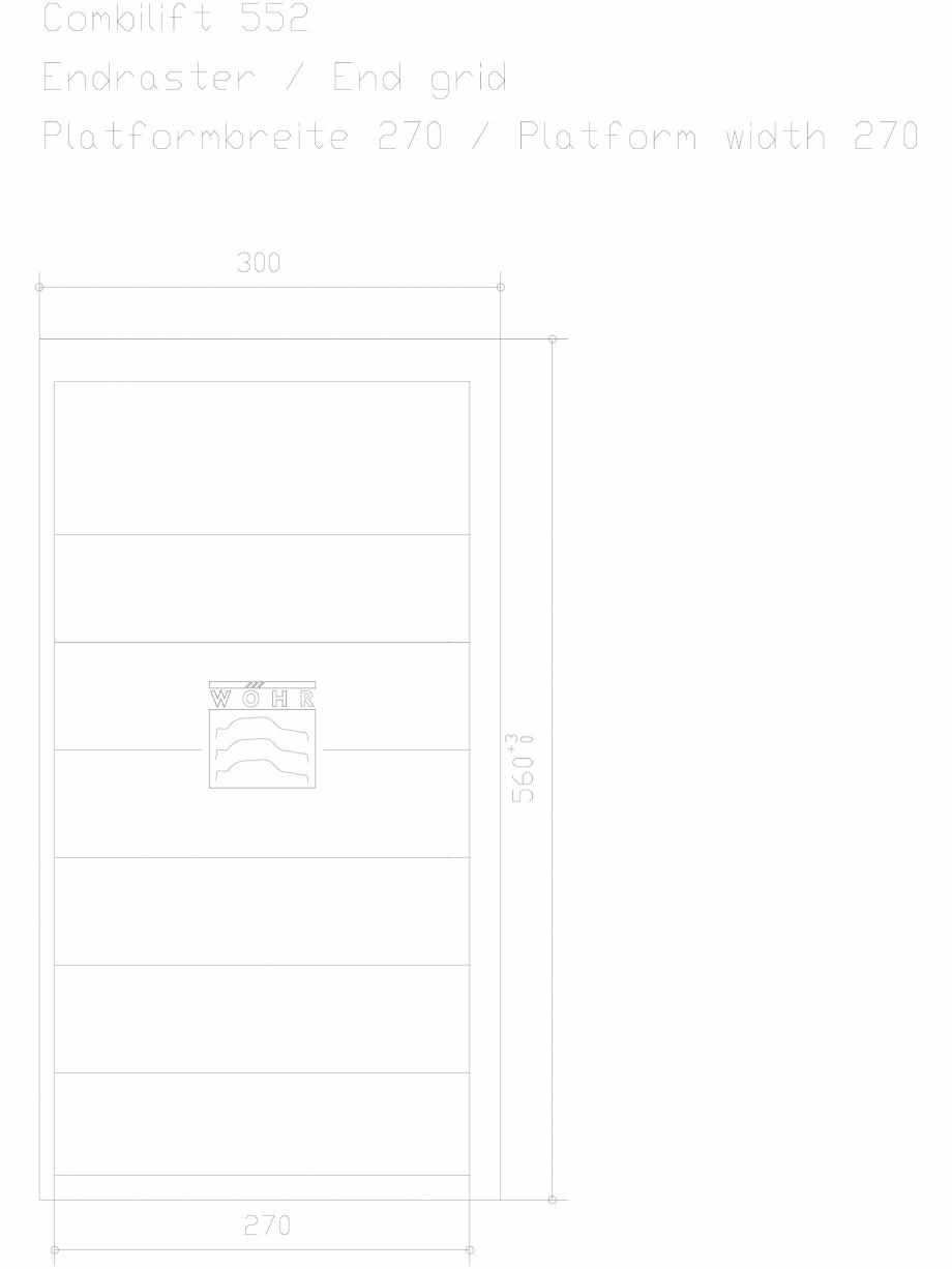 Pagina 1 - CAD-DXF Sistem mecanic de parcare auto - ultima grila - latime platforma 270 WÖHR...