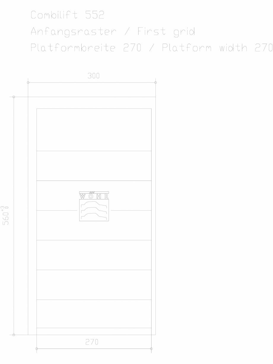 Pagina 1 - CAD-DXF Sistem mecanic de parcare auto - prima grila - latime platforma 270 WÖHR...