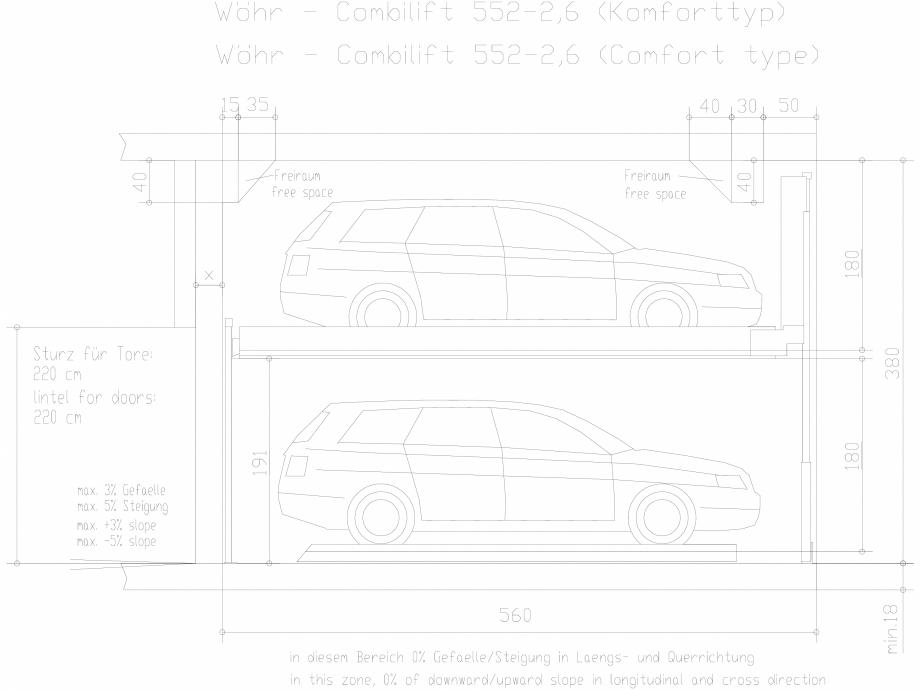 Pagina 1 - CAD-DXF Sistem mecanic de parcare auto 2,6 Comfort  WÖHR Detaliu de produs COMBILIFT...