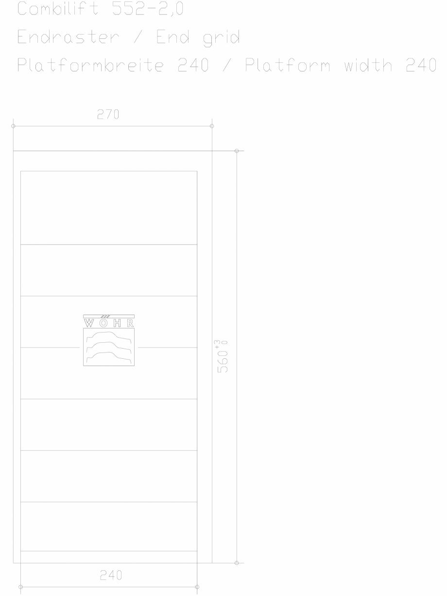 Pagina 1 - CAD-DXF Sistem mecanic de parcare auto 2,0 - ultima grila - latime platforma 240 WÖ...