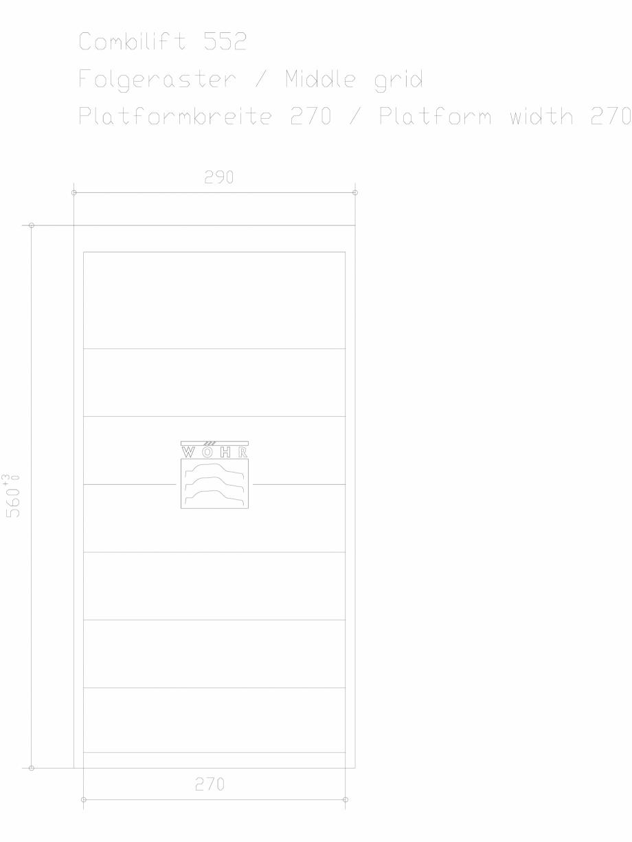 Pagina 1 - CAD-DXF Sistem mecanic de parcare auto - grila din mijloc - latime platforma 270 WÖ...