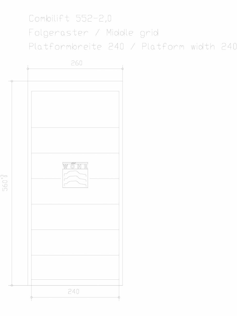 Pagina 1 - CAD-DXF Sistem mecanic de parcare auto 2,0 - grila din mijloc - latime platforma 240...