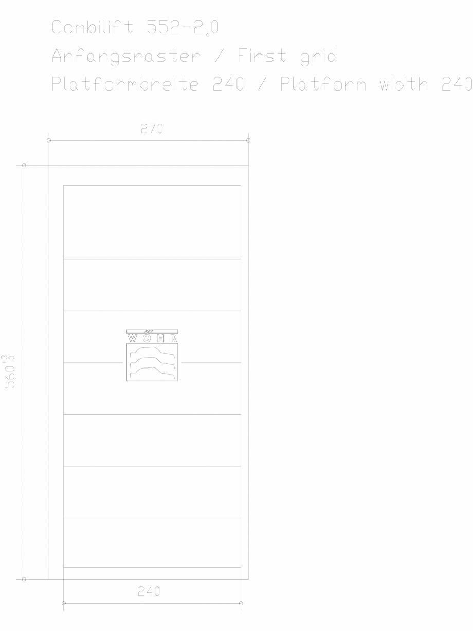 Pagina 1 - CAD-DXF Sistem mecanic de parcare auto 2,0 - prima grila - latime platforma 240 WÖHR...