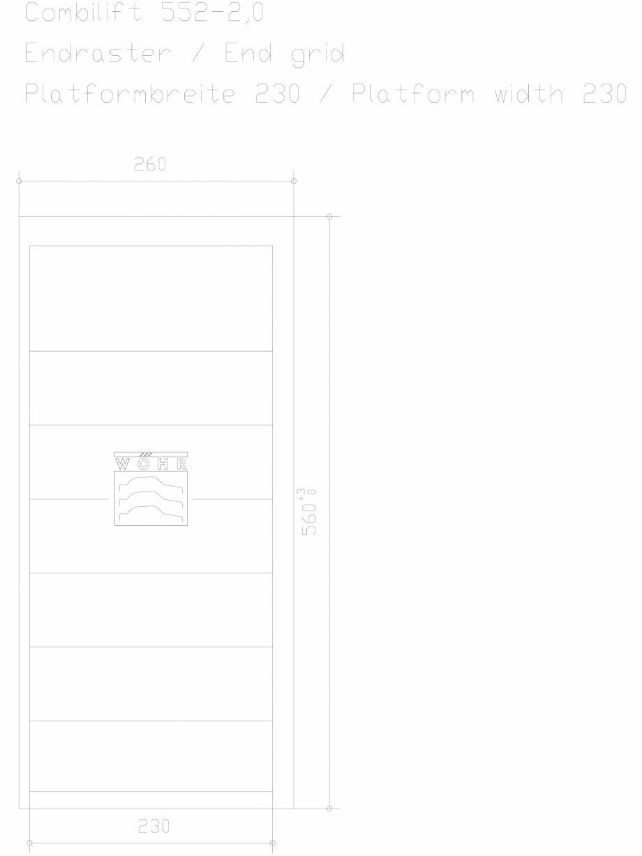 Pagina 1 - CAD-DXF Sistem mecanic de parcare auto 2,0 - ultima grila - latime platforma 230 WÖ...