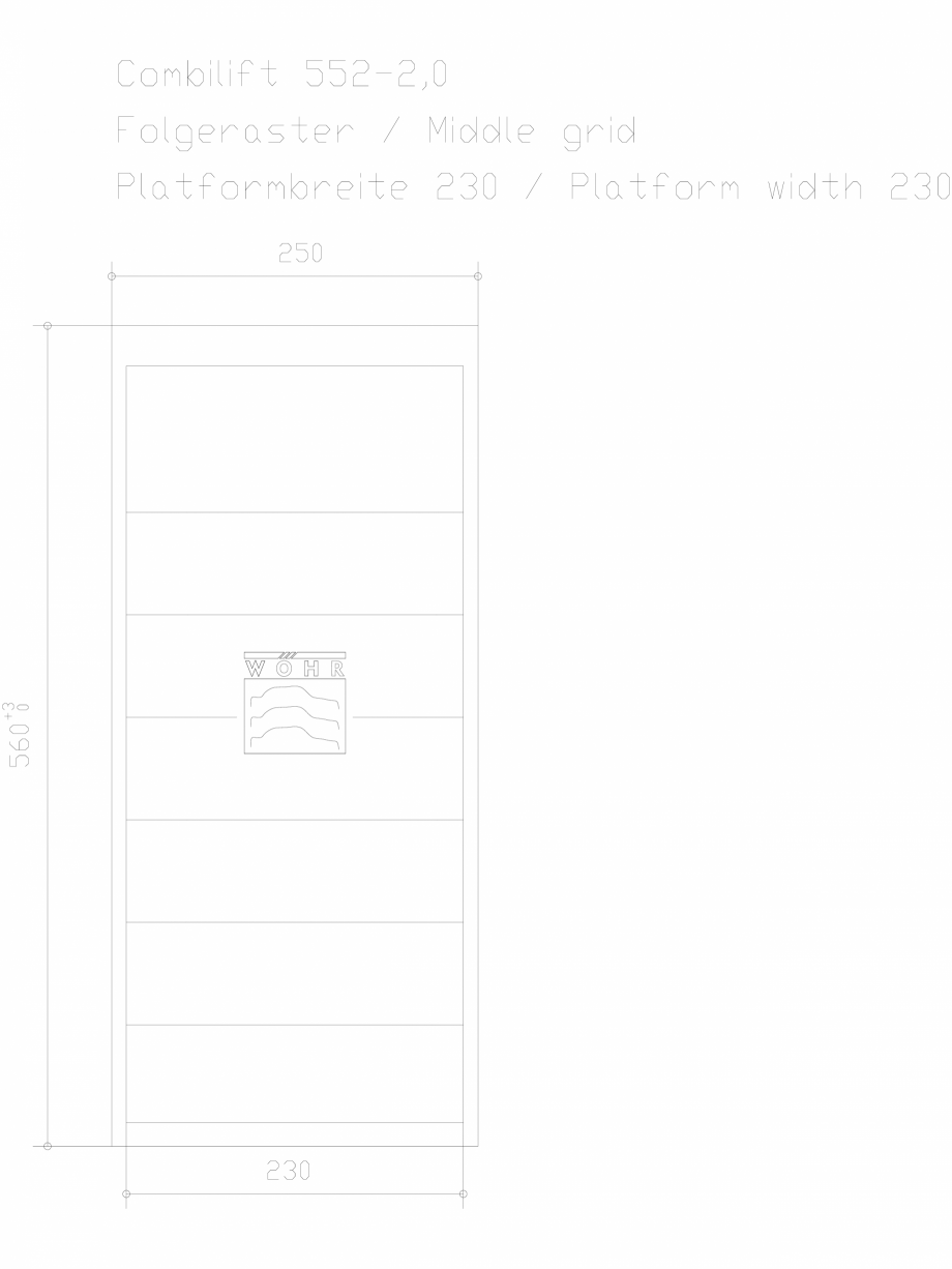 Pagina 1 - CAD-DXF Sistem mecanic de parcare auto 2,0 - grila din mijloc - latime platforma 230...