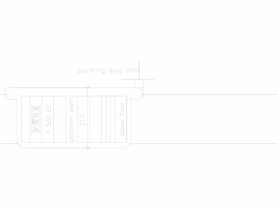 Pagina 1 - CAD-DXF Platforma de parcare - 217-EP-UEF WÖHR Detaliu de produs 503