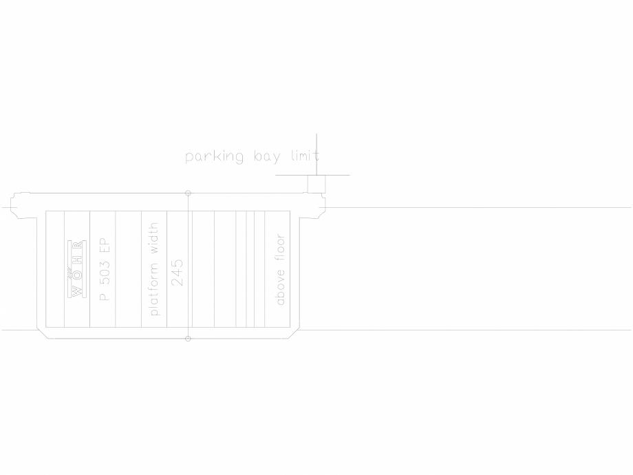 Pagina 1 - CAD-DXF Platforma de parcare - 245-EP-UEF WÖHR Detaliu de produs 503