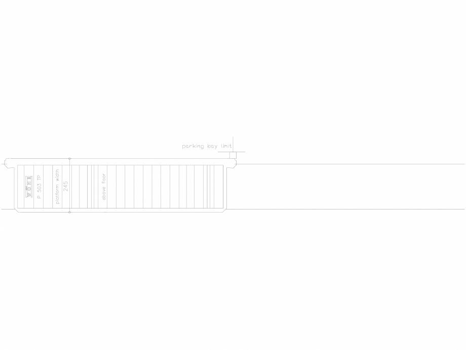 Pagina 1 - CAD-DXF Platforma de parcare - 245-TP-UEF WÖHR Detaliu de produs 503
