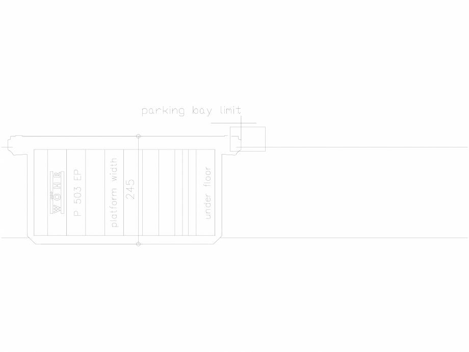 Pagina 1 - CAD-DXF Platforma de parcare - 245-EP-UF WÖHR Detaliu de produs 503