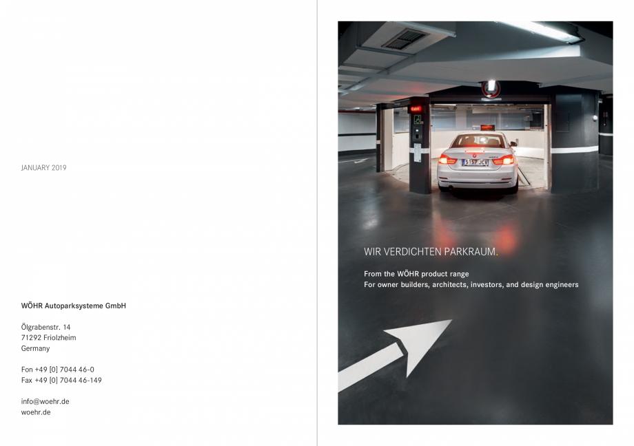 Pagina 2 - Sisteme de parcare auto WÖHR COMBILIFT 542, PARKLIFT 340, PARKLIFT 402, PARKLIFT 403...
