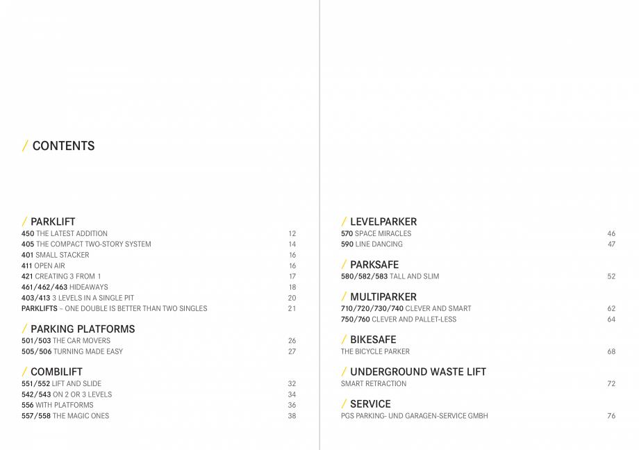 Pagina 4 - Sisteme de parcare auto WÖHR COMBILIFT 542, PARKLIFT 340, PARKLIFT 402, PARKLIFT 403...