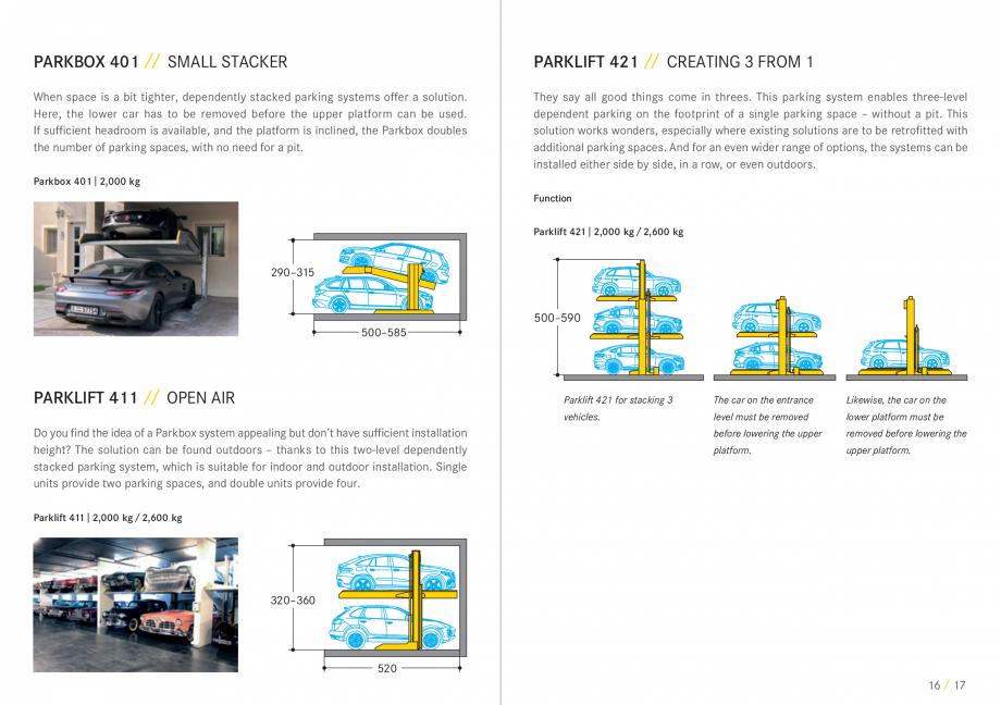 Pagina 9 - Sisteme de parcare auto WÖHR COMBILIFT 542, PARKLIFT 340, PARKLIFT 402, PARKLIFT 403...