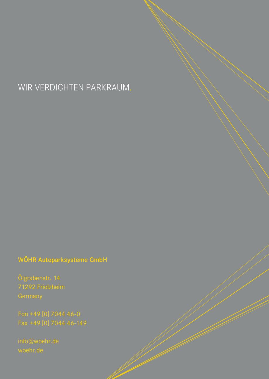 Pagina 41 - Sisteme de parcare auto WÖHR COMBILIFT 542, PARKLIFT 340, PARKLIFT 402, PARKLIFT...