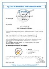 Certificat SKZ Twinson decking 2008-06 Holz-Polymer Decking profile DECEUNINCK
