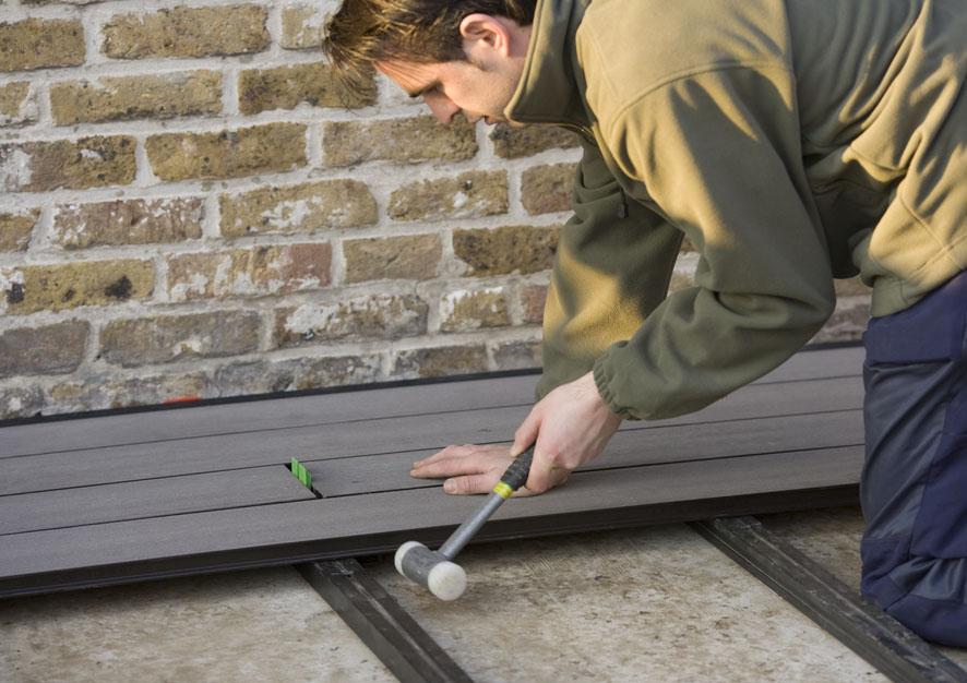 Montaj pardoseli cu deck-uri din material compozit lemn cu PVC DECEUNINCK - Poza 24