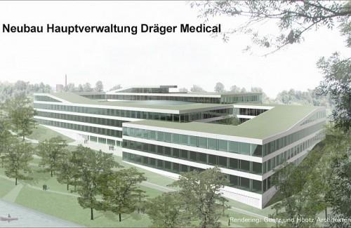Pardoseli tehnice suprainaltate - Drager Medical Lubeck - Germania MERO - Poza 4