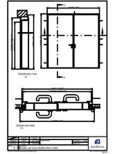 Usa rezistenta la foc - Panou 2400x2500 ANDREU