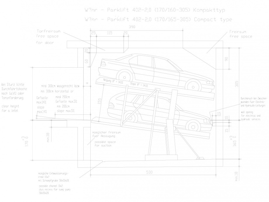 Pagina 1 - CAD-DXF Sistem mecanic de parcare auto 2.0-170/165 Compact WÖHR Detaliu de produs...