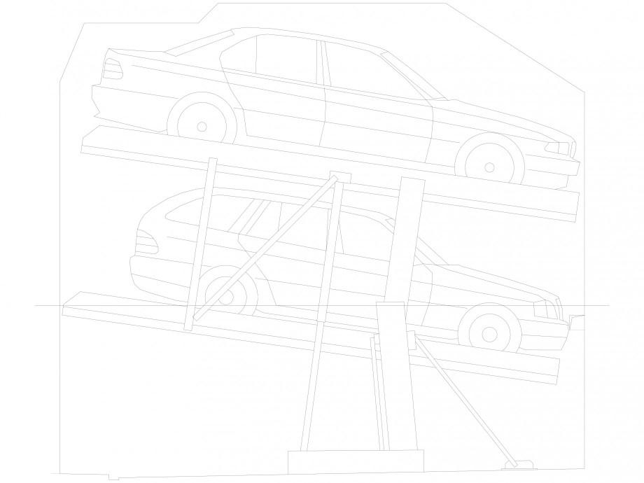 Pagina 1 - CAD-DXF Sistem mecanic de parcare auto 2.0-170/165 Compact-planificare WÖHR Detaliu ...