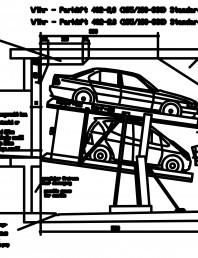 Sistem mecanic de parcare auto 2.0-185/180 Standard
