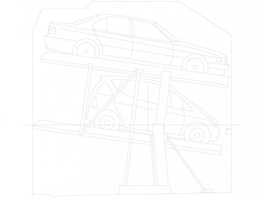 Pagina 1 - CAD-DXF Sistem mecanic de parcare auto 2.0-185/180 Standard-planificare WÖHR Detaliu...