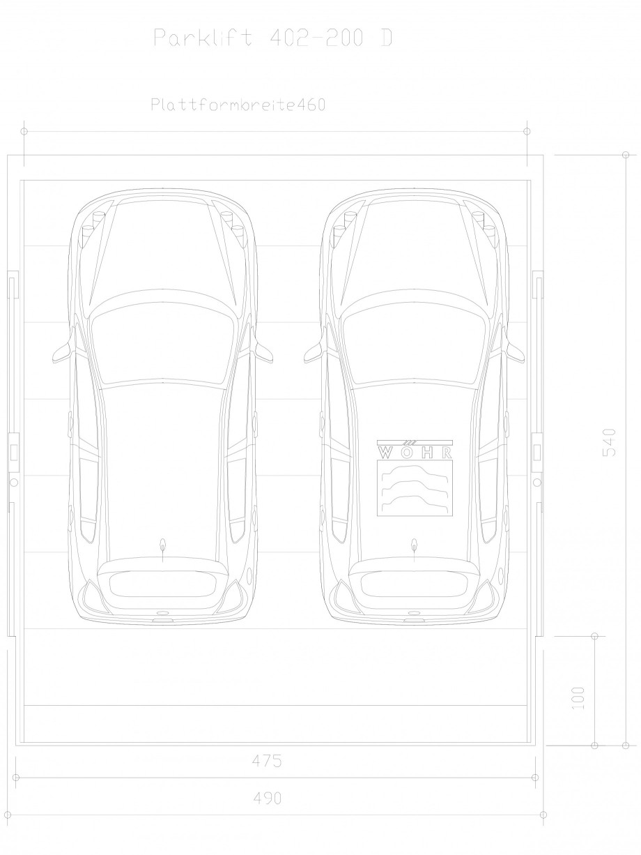 Pagina 1 - CAD-DXF Sistem mecanic de parcare auto 200 D-460 WÖHR Detaliu de produs PARKLIFT 402...
