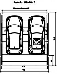 Sistem mecanic de parcare auto 200 D-460