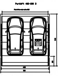 Sistem mecanic de parcare auto  200 D-480
