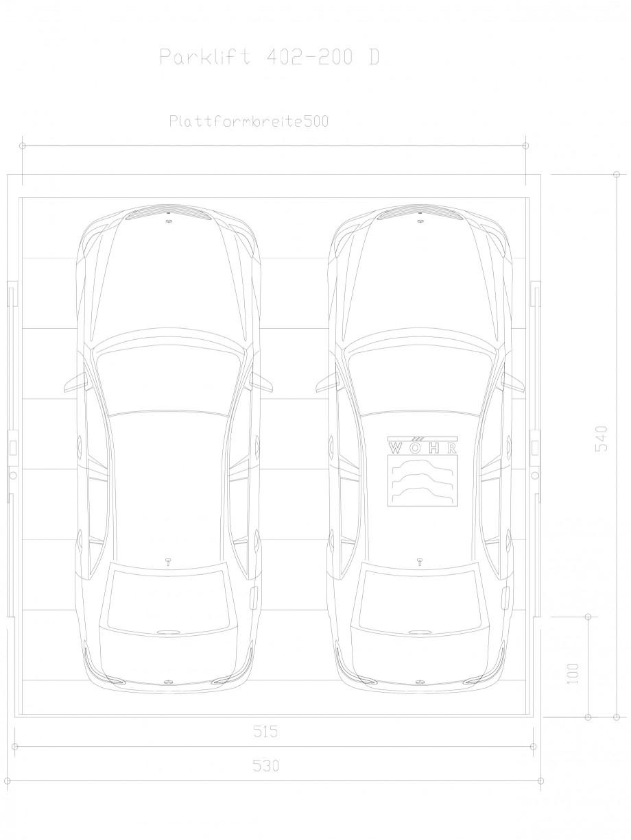 Pagina 1 - CAD-DXF Sistem mecanic de parcare auto 200 D-500 WÖHR Detaliu de produs PARKLIFT 402...