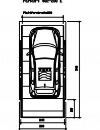 Sistem mecanic de parcare auto 200 E-230