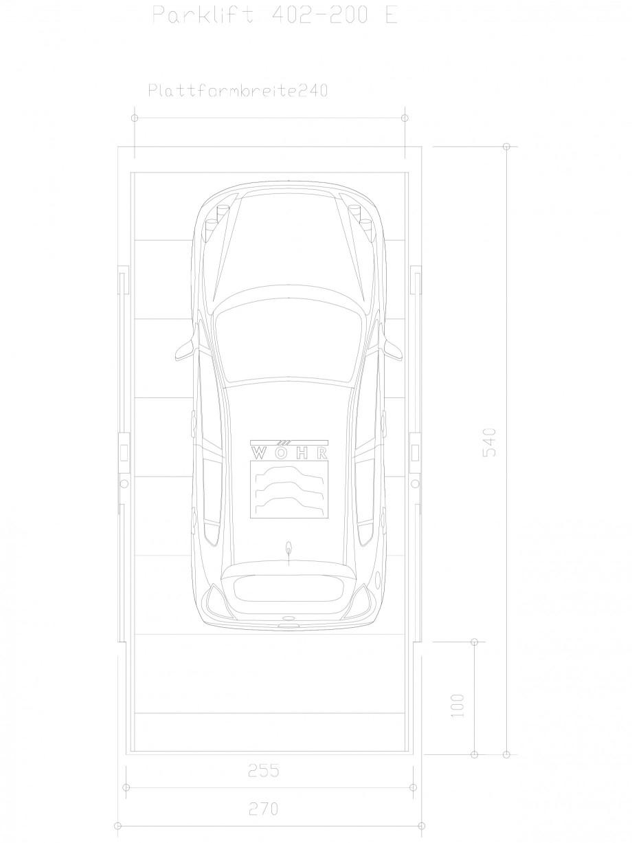 Pagina 1 - CAD-DXF Sistem mecanic de parcare auto 200 E-240 WÖHR Detaliu de produs PARKLIFT 402...