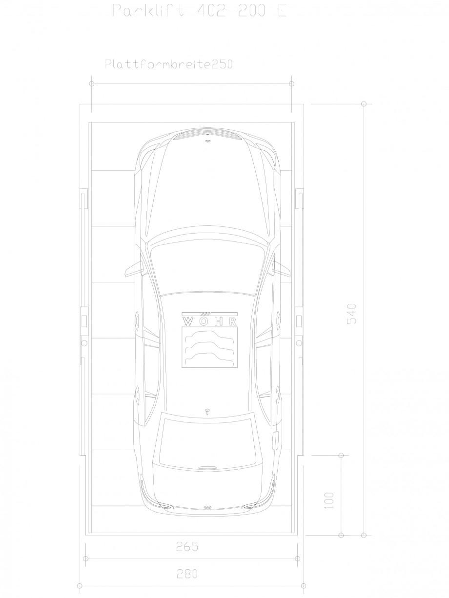 Pagina 1 - CAD-DXF Sistem mecanic de parcare auto 200 E-250 WÖHR Detaliu de produs PARKLIFT 402...
