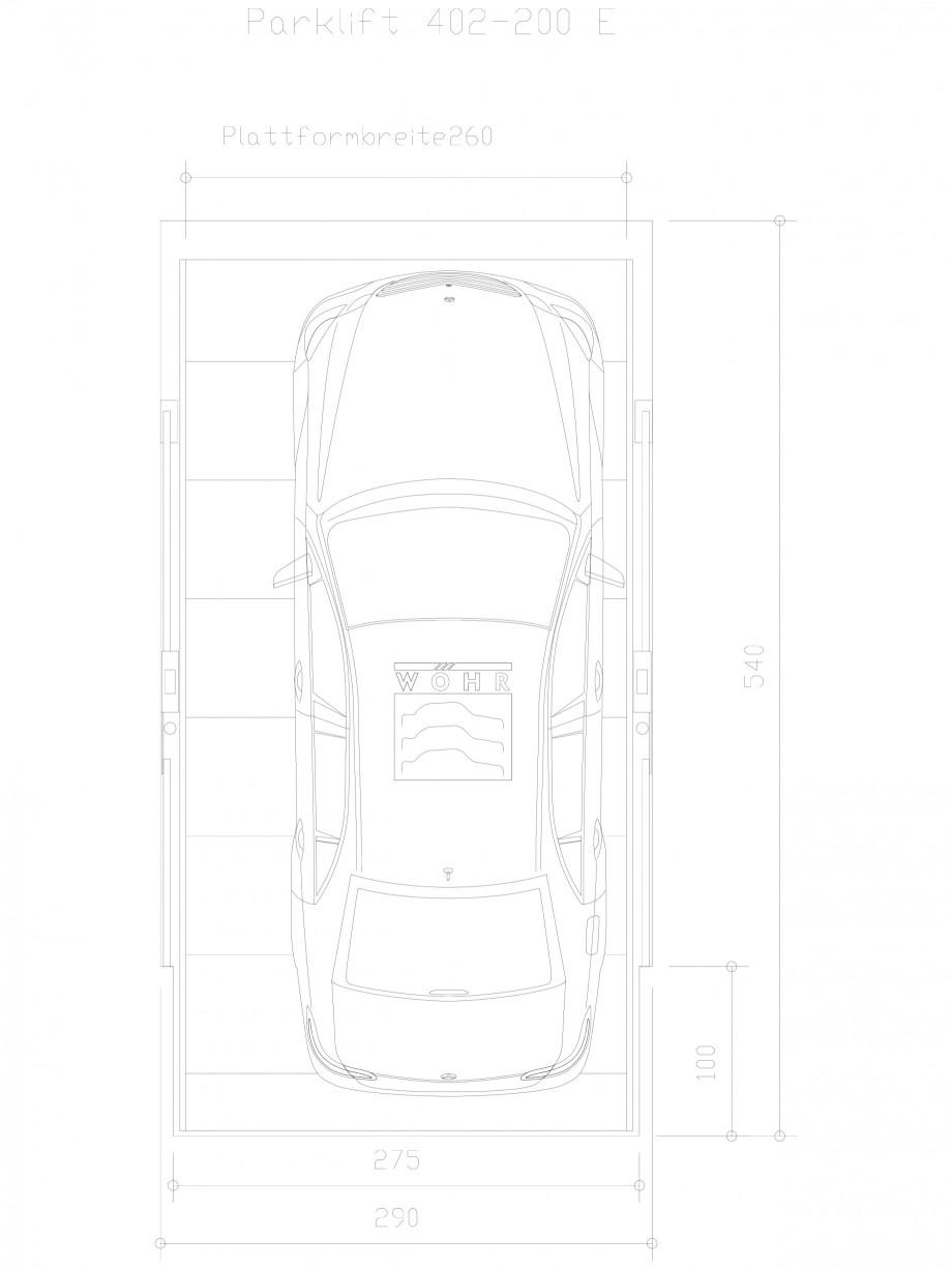 Pagina 1 - CAD-DXF Sistem mecanic de parcare auto 200 E-260 WÖHR Detaliu de produs PARKLIFT 402...
