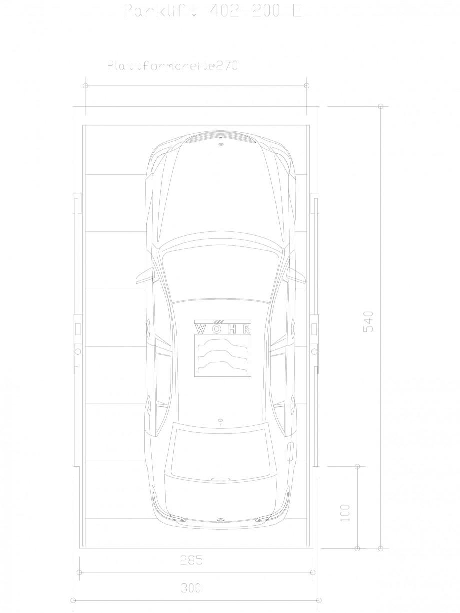 Pagina 1 - CAD-DXF Sistem mecanic de parcare auto 200 E-270 WÖHR Detaliu de produs PARKLIFT 402...