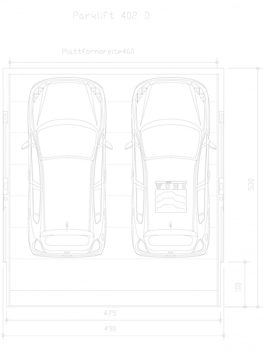 Pagina 1 - CAD-DXF Sistem mecanic de parcare auto D-460 WÖHR Detaliu de produs PARKLIFT 402
