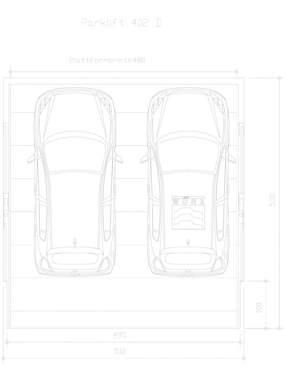 Pagina 1 - CAD-DXF Sistem mecanic de parcare auto D-480 WÖHR Detaliu de produs PARKLIFT 402