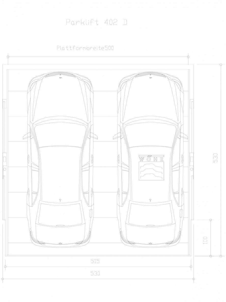 Pagina 1 - CAD-DXF Sistem mecanic de parcare auto D-500 WÖHR Detaliu de produs PARKLIFT 402