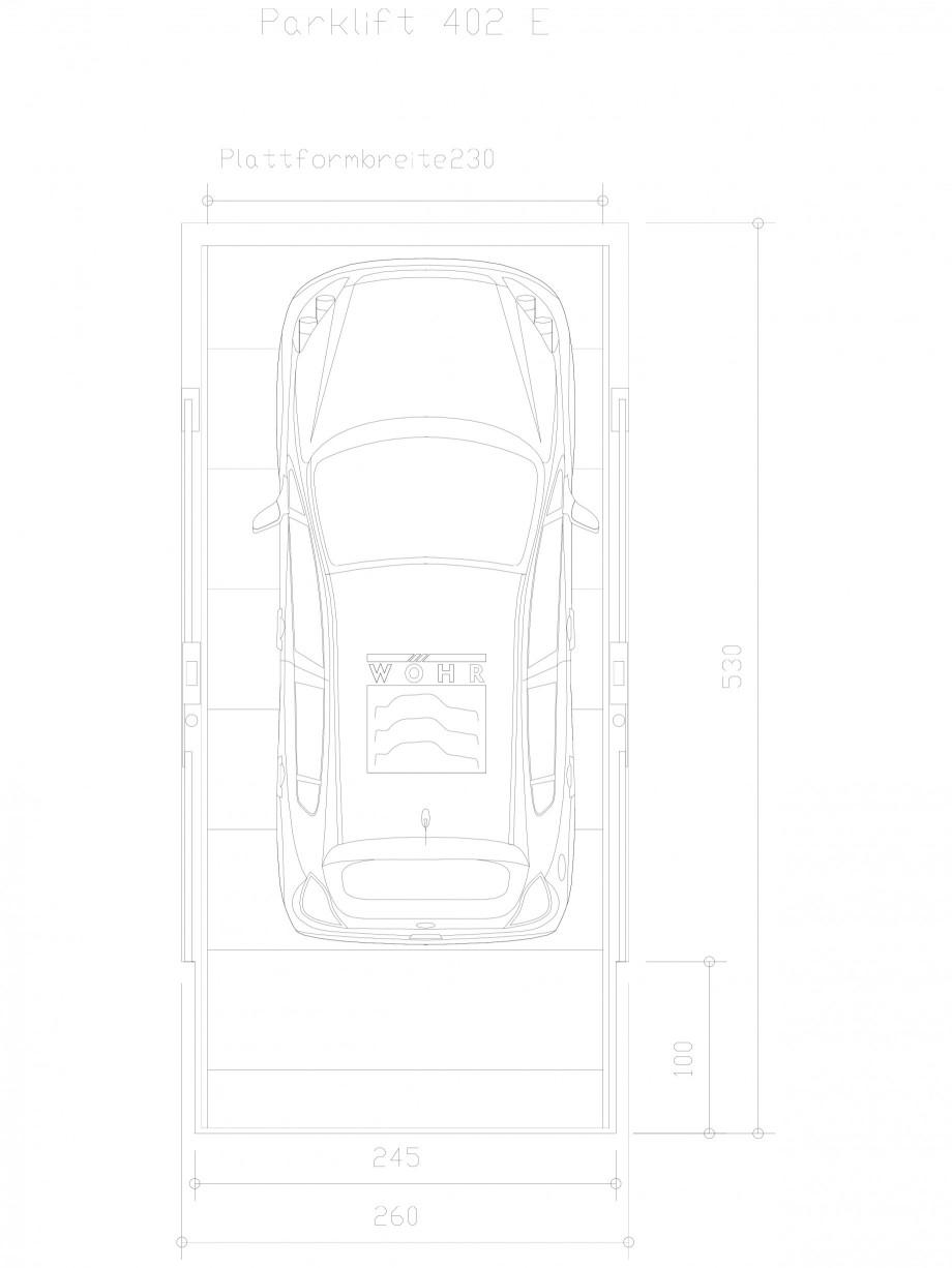 Pagina 1 - CAD-DXF Sistem mecanic de parcare auto E-230 WÖHR Detaliu de produs PARKLIFT 402