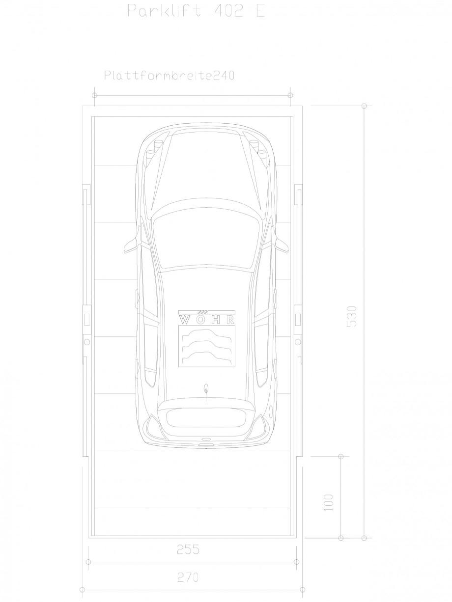 Pagina 1 - CAD-DXF Sistem mecanic de parcare auto E-240 WÖHR Detaliu de produs PARKLIFT 402