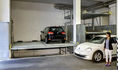 Exemplu de utilizare a sistemului de parcare PARKLIFT 403 Sistem de parcare