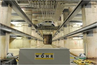 Interiorul parcarii Cubul din Birmingham Parcaj de 339 locuri cu noul sistem Multiparker 760 - Cubul