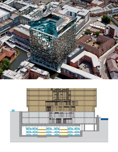 Plan parcare Parcaj de 339 locuri cu noul sistem Multiparker 760 - Cubul din Birmingham